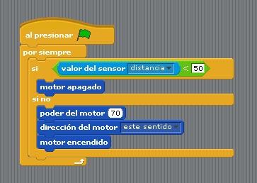 código motor y sensor