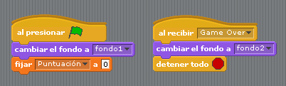 código escenario