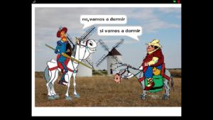 Cervantes y sancho panza