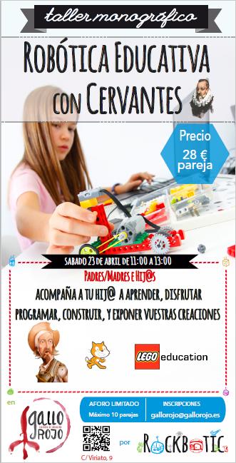 """Taller monográfico: """"Robótica educatica con Cervantes"""""""
